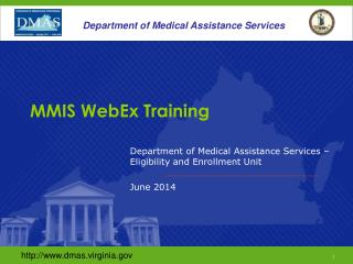 MMIS WebEx Training
