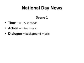 National Day News