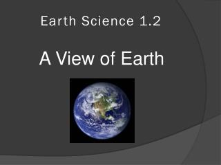 Earth Science 1.2