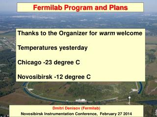 Fermilab  Program and Plans