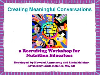 a Recruiting Workshop for Nutrition Educators