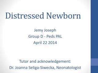Distressed Newborn