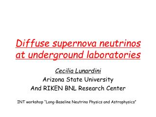 Diffuse supernova neutrinos at underground laboratories