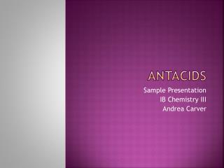 Antacids