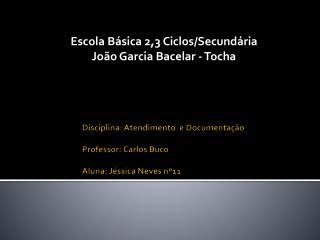 Disciplina: Atendimento  e Documentação Professor: Carlos Buco Aluna: Jéssica Neves nº11