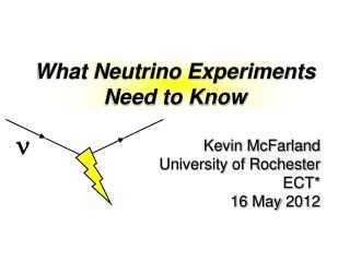 What Neutrino Experiments Need to Know