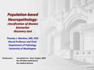 Population-based Neuropathology: classification of disease biomarker discovery tool