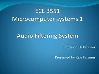 ECE 3551  Microcomputer systems 1 Audio Filtering System