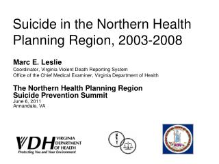 Suicide in the Northern Health Planning Region, 2003-2008