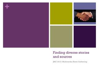 Finding diverse stories and sources