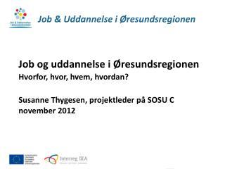 Job & Uddannelse i Øresundsregionen