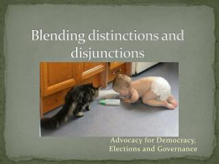 Blending distinctions and disjunctions