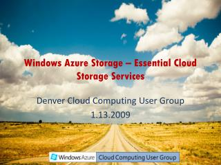 Windows Azure Storage –  Essential Cloud Storage Services