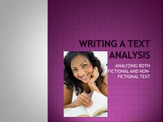 Writing a Text Analysis