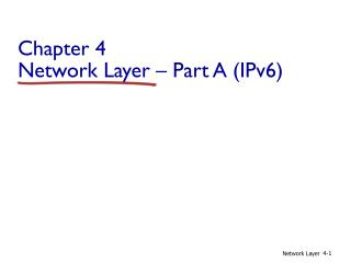 Chapter 4 Network  Layer � Part A (IPv6)