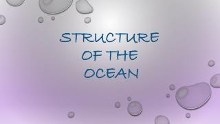 STRUCTURE  OF THE  OCEAN