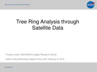 Tree Ring Analysis through Satellite Data