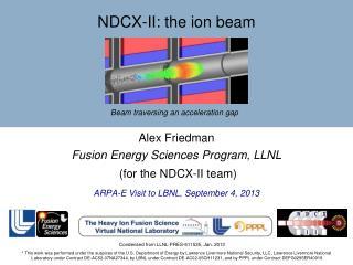 NDCX - II:  the ion beam