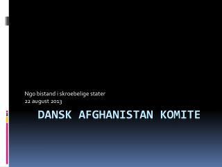 Dansk Afghanistan  Komite