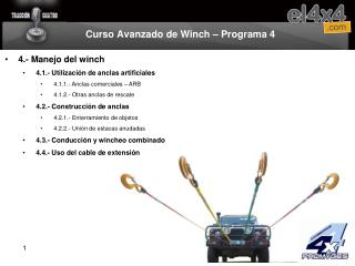 Curso Avanzado de Winch   Programa 4