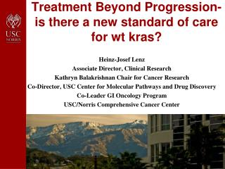 Treatment Beyond Progression- is there a new standard of care for  wt kras ?