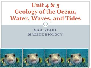 Unit 4 & 5 Geology of the Ocean, Water, Waves, and Tides