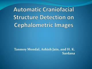 Automatic Craniofacial Structure Detection on Cephalometric  Images