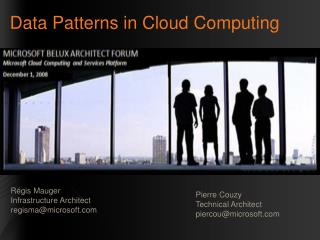 Data Patterns in Cloud  Computing