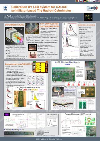 Calibration UV LED system for CALICE scintillator based Tile Hadron Cal o rimeter