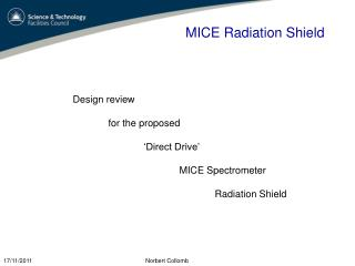 MICE Radiation Shield