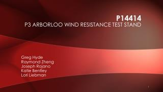 P14414 P3 Arborloo wind resistance test stand