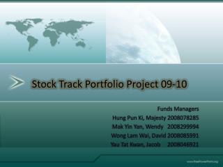 Funds Managers Hung Pun Ki, Majesty 2008078285 Mak Yin Yan, Wendy   2008299994