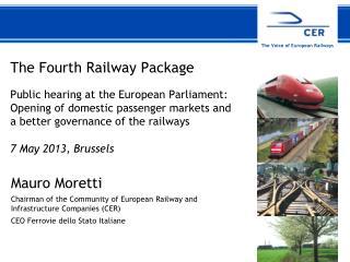 The Fourth Railway Package  Public hearing at the European Parliament: