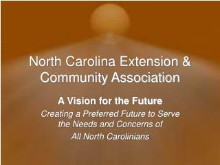 North Carolina Extension  Community Association