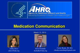 Medication Communication