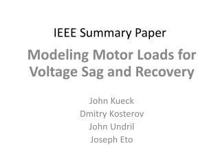 IEEE Summary Paper