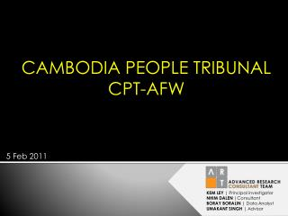 CAMBODIA PEOPLE TRIBUNAL CPT-AFW