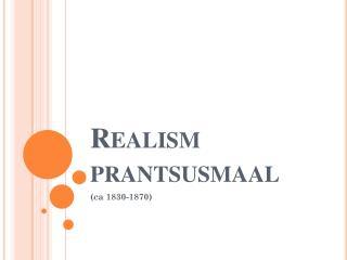 Realism  prantsusmaal