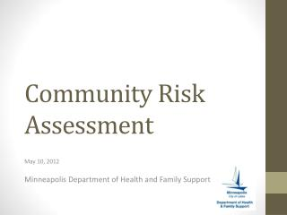 Community Risk Assessment