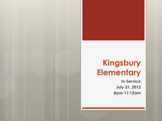 Kingsbury Elementary