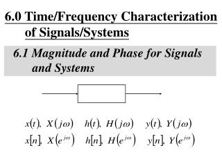 6.0 Time/Frequency Characterization  of Signals/Systems 6.1 Magnitude and Phase for Signals