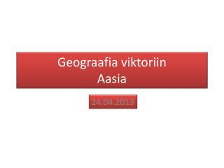 Geograafia viktoriin Aasia