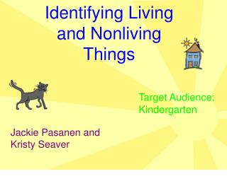 Identifying Living and Nonliving Things