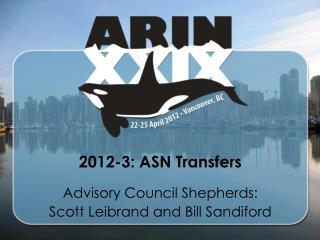 2012-3: ASN Transfers