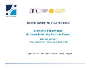 18 juin 2013 – INSA Lyon – Amphi Claude Chappe