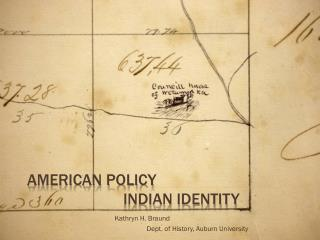 American Policy Indian Identity