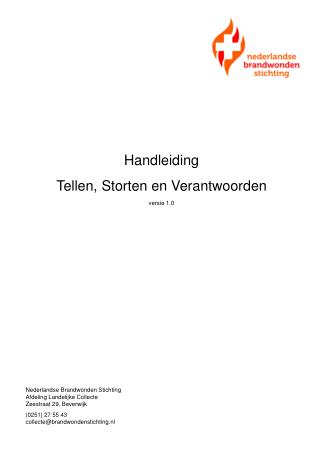 Handleiding Tellen, Storten en Verantwoorden v ersie 1.0