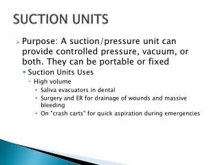SUCTION UNITS