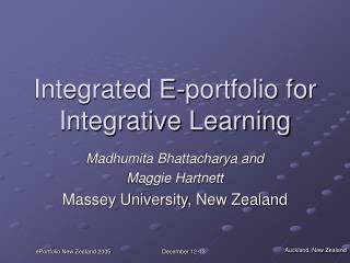 Integrated E-portfolio for Integrative Learning