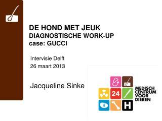 DE HOND MET JEUK DIAGNOSTISCHE WORK-UP case: GUCCI
